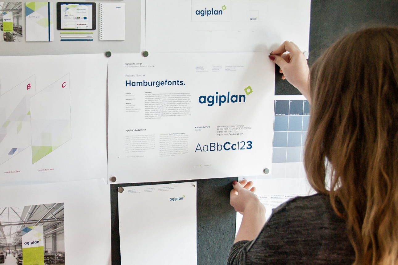 Corporate Design Relaunch, Logoüberarbeitung für agiplan von 31M aus Essen, Ruhrgebiet