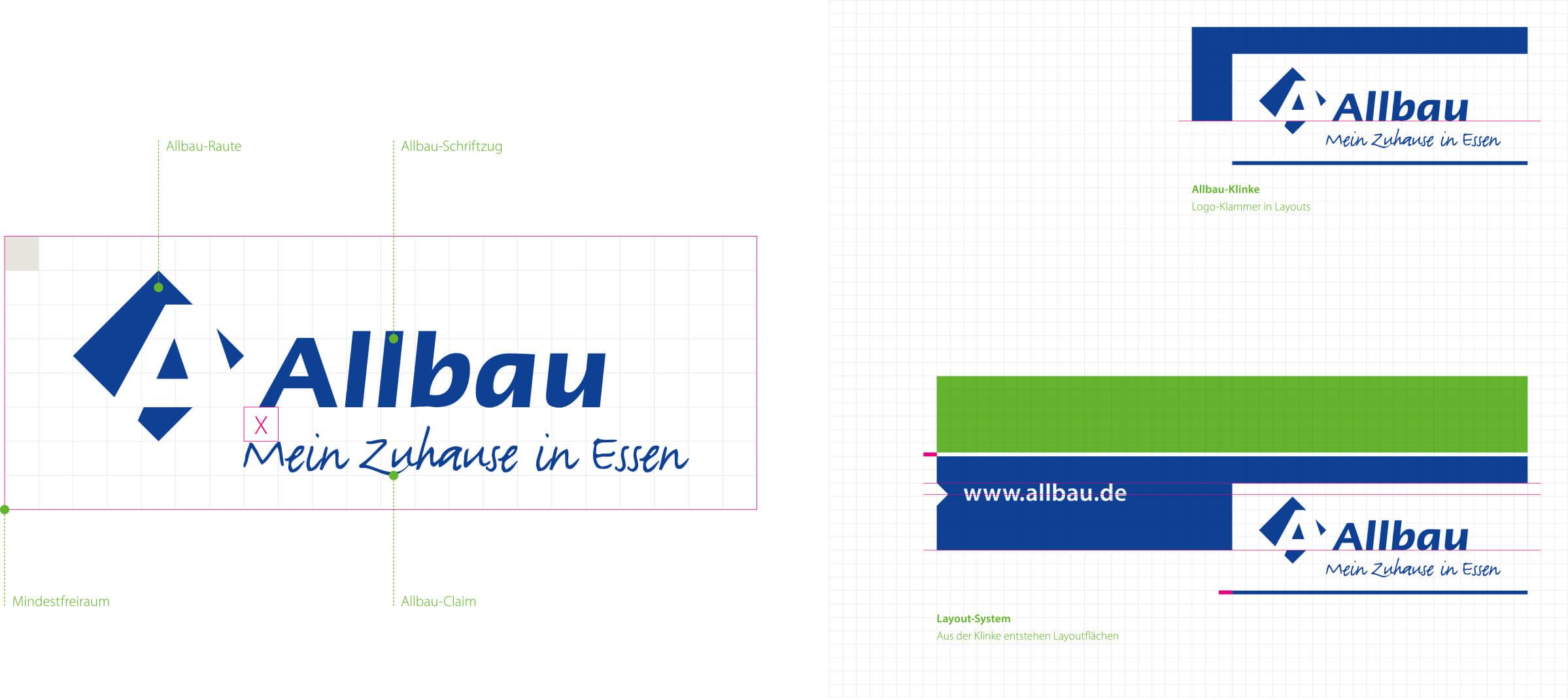 Immobilienmarketing für die Allbau GmbH – Corporate Design