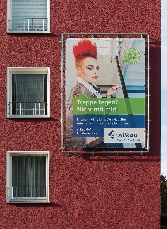 Werbekampagen und Marketing für Immobilienunternehmen Allbau aus Essen von 31M