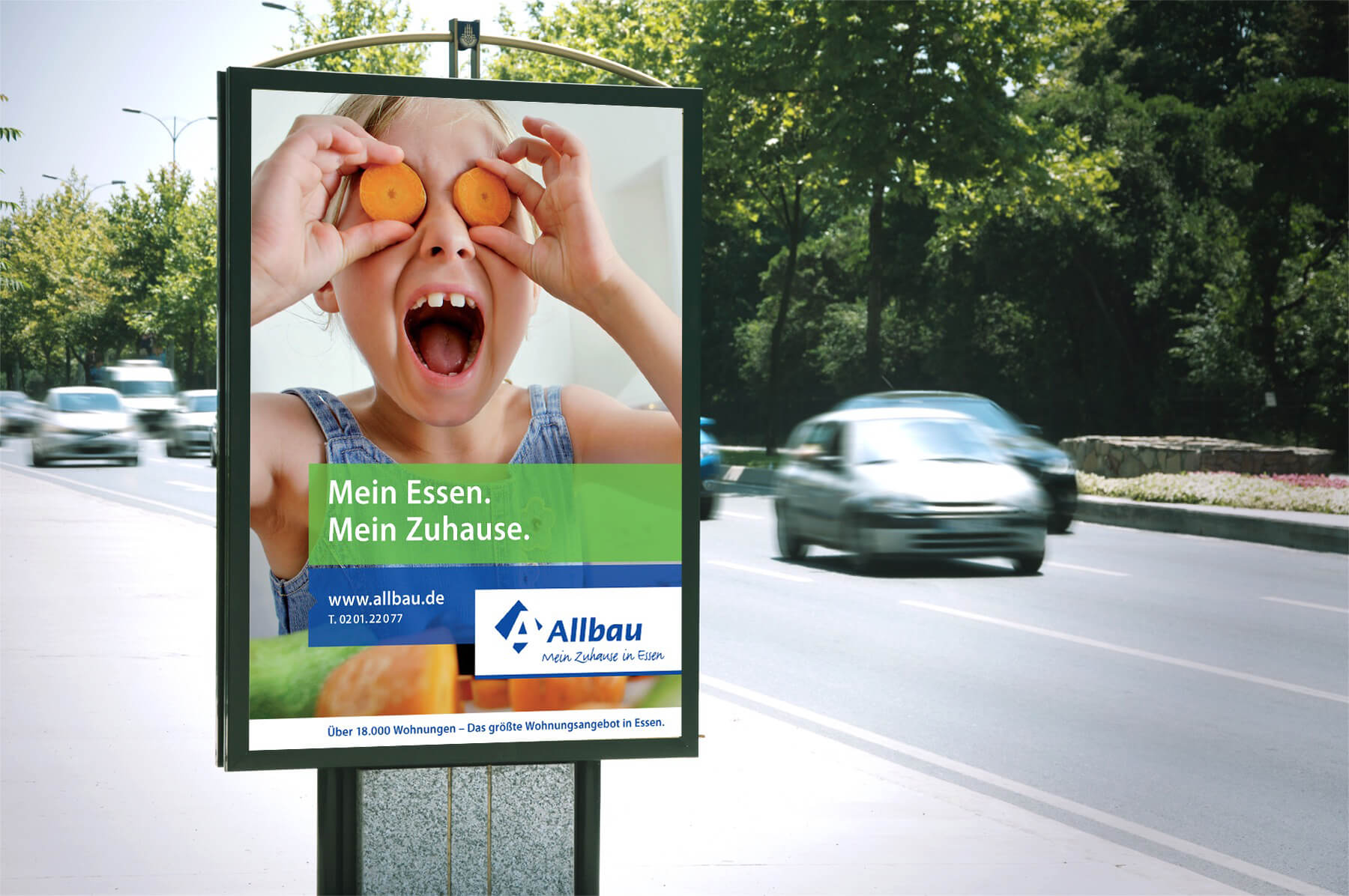 Plakat Allbau Kampagne Immobilienmarketing
