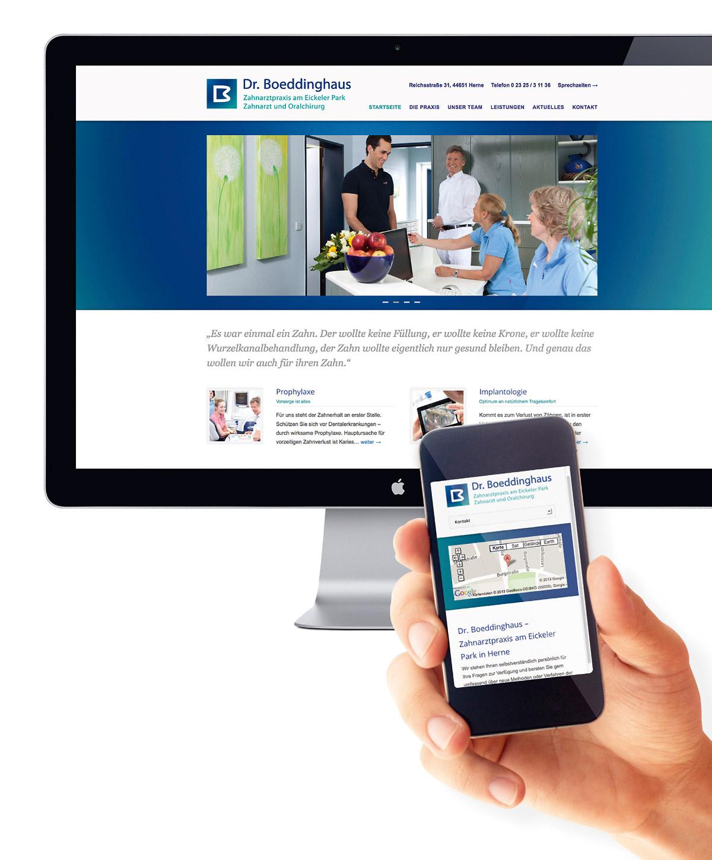 Responsive Webdesign für Dr.Boeddinghaus