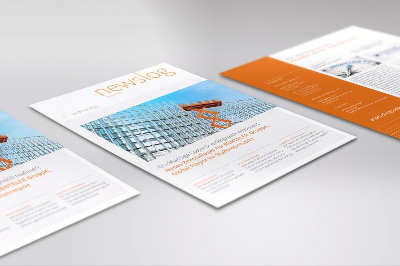 Corporate Publishing: Konzeption und Realisierung des neuen Newsletters für alphalogs