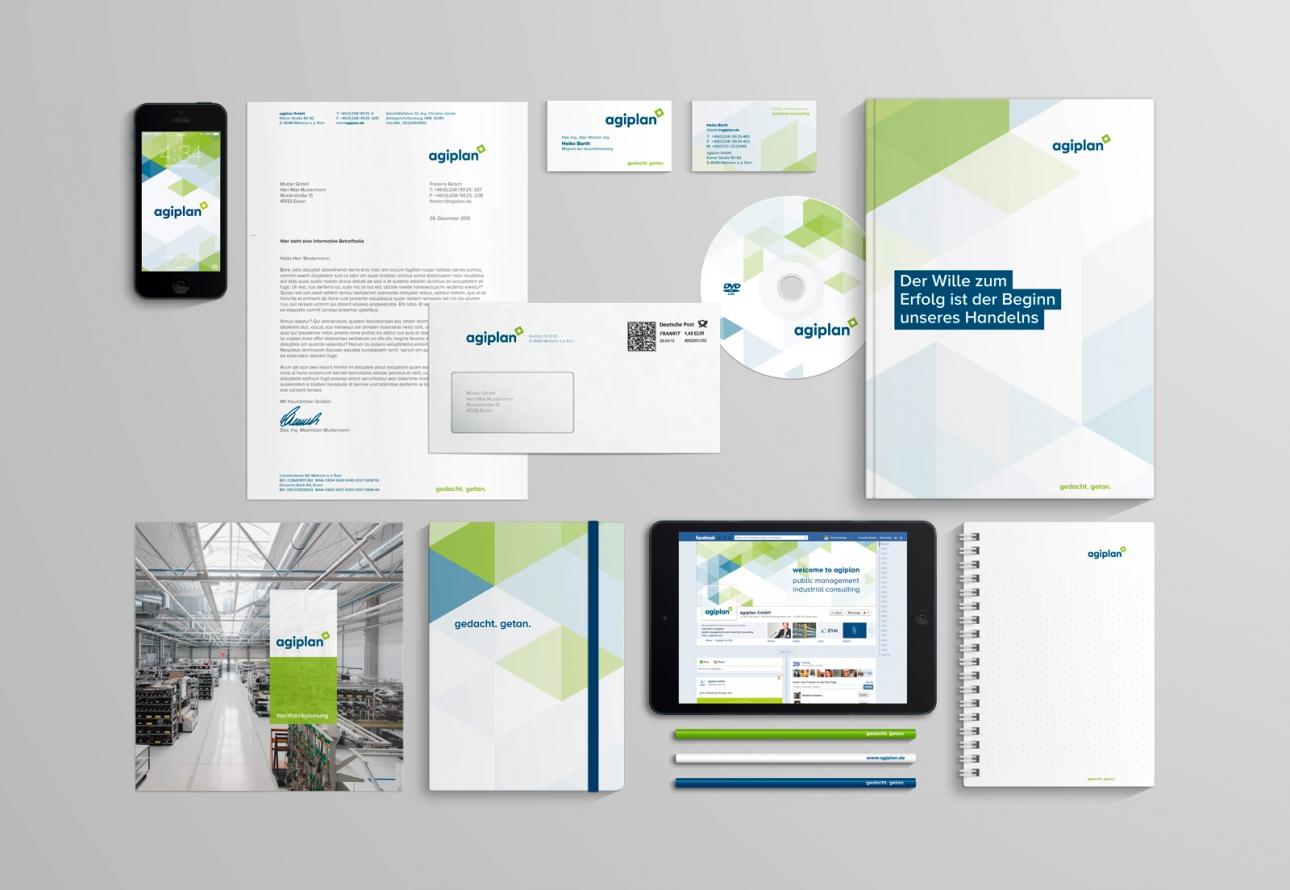 Corporate Design Ansicht für agiplan
