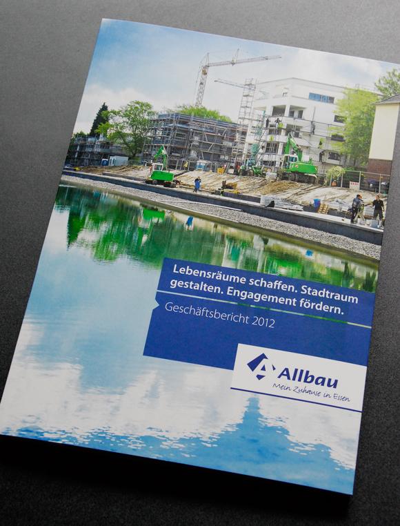 Geschäftsbericht Cover für Allbau