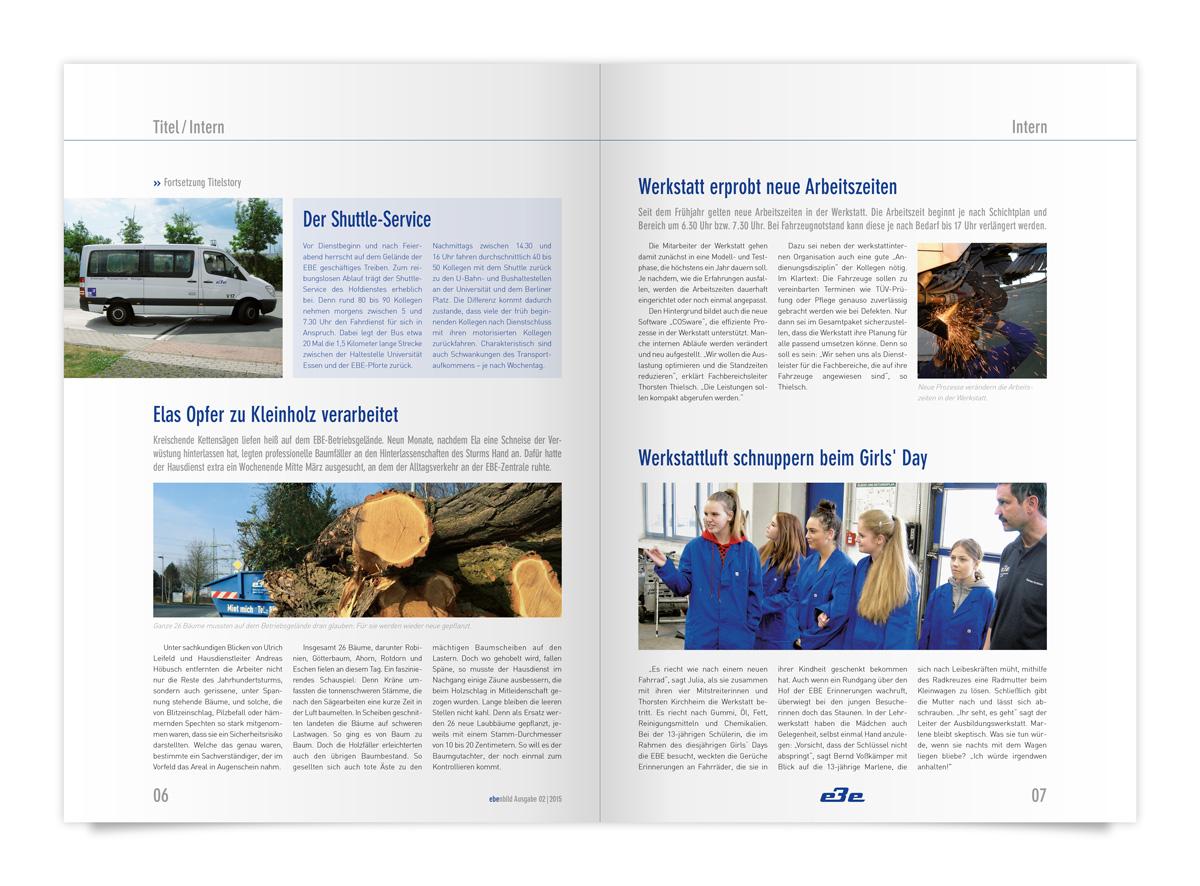 Magazin Anzeige von Innen für e3e