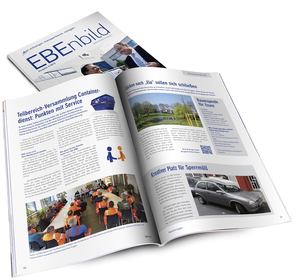 Magazin Ansicht von innen und vorne für EBE