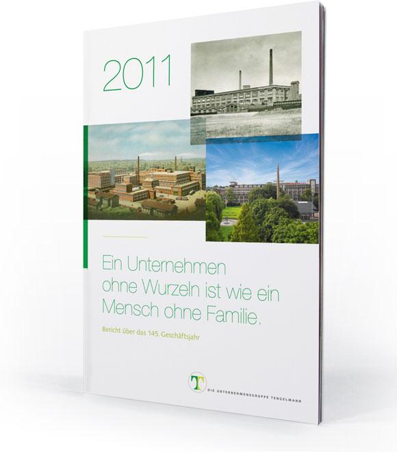 Geschäftsberichts Cover für Tengelmann