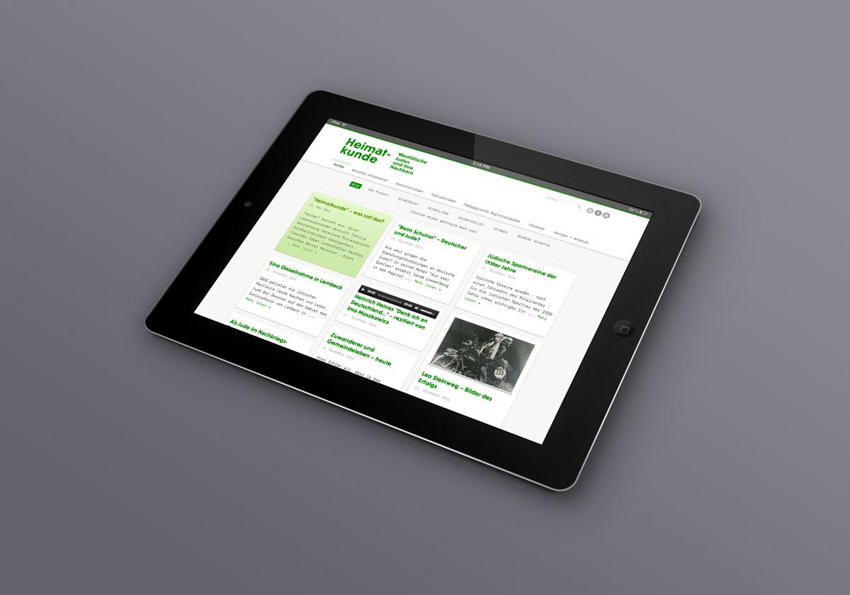 Webdesign für Heimatkunde