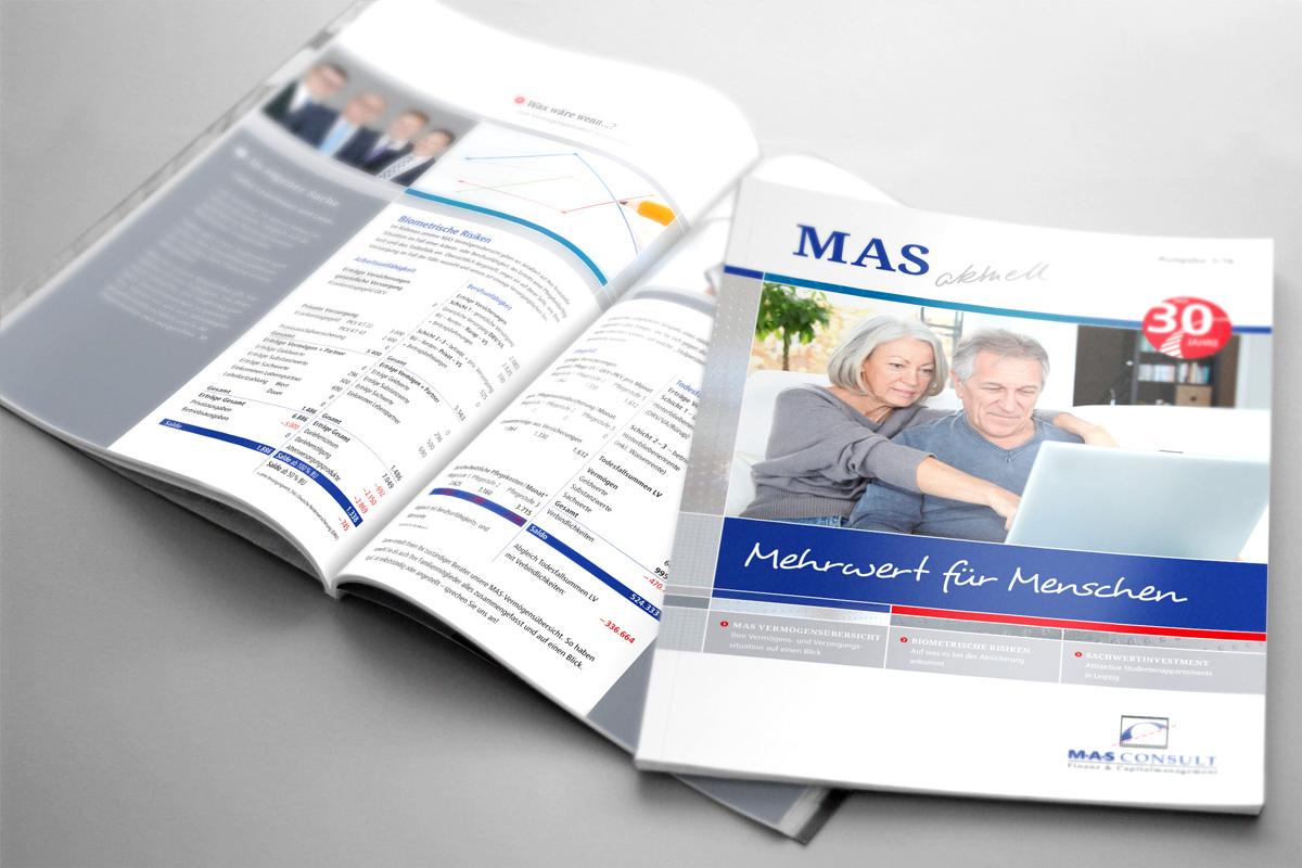 MAS Magazin Cover und von innen