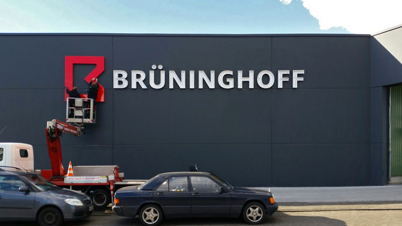 Montageschriftzug für Brüninghoff