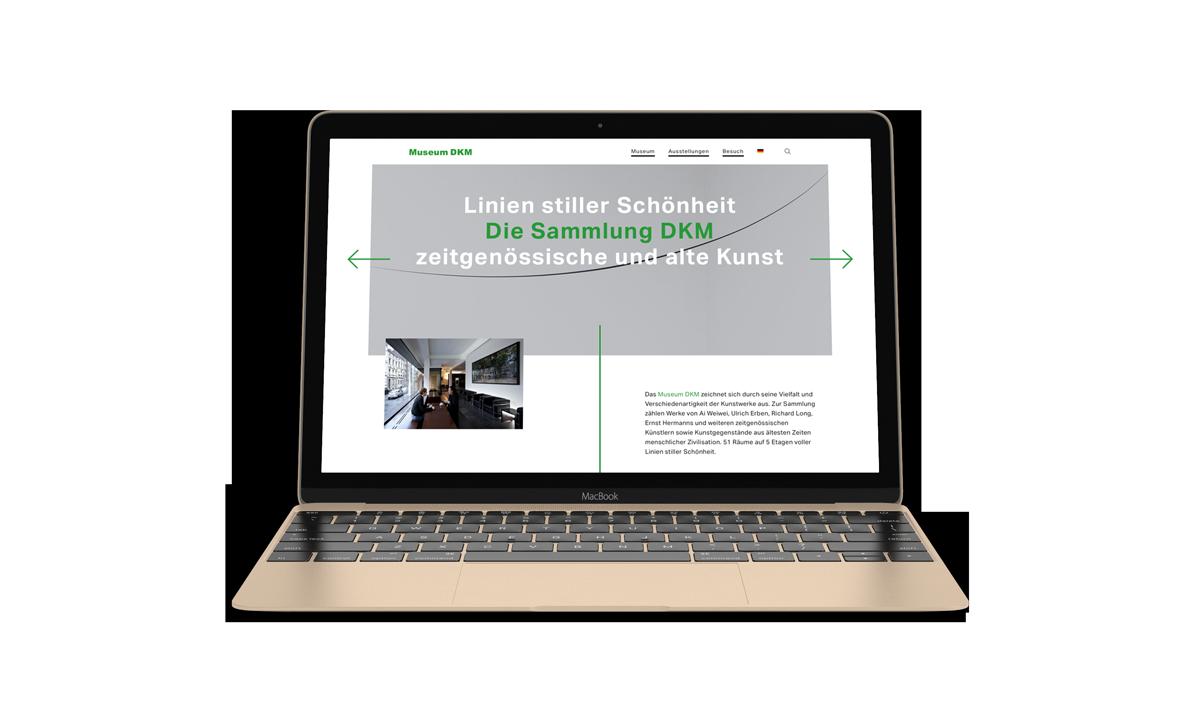 Webdesign: Museum DKM Start
