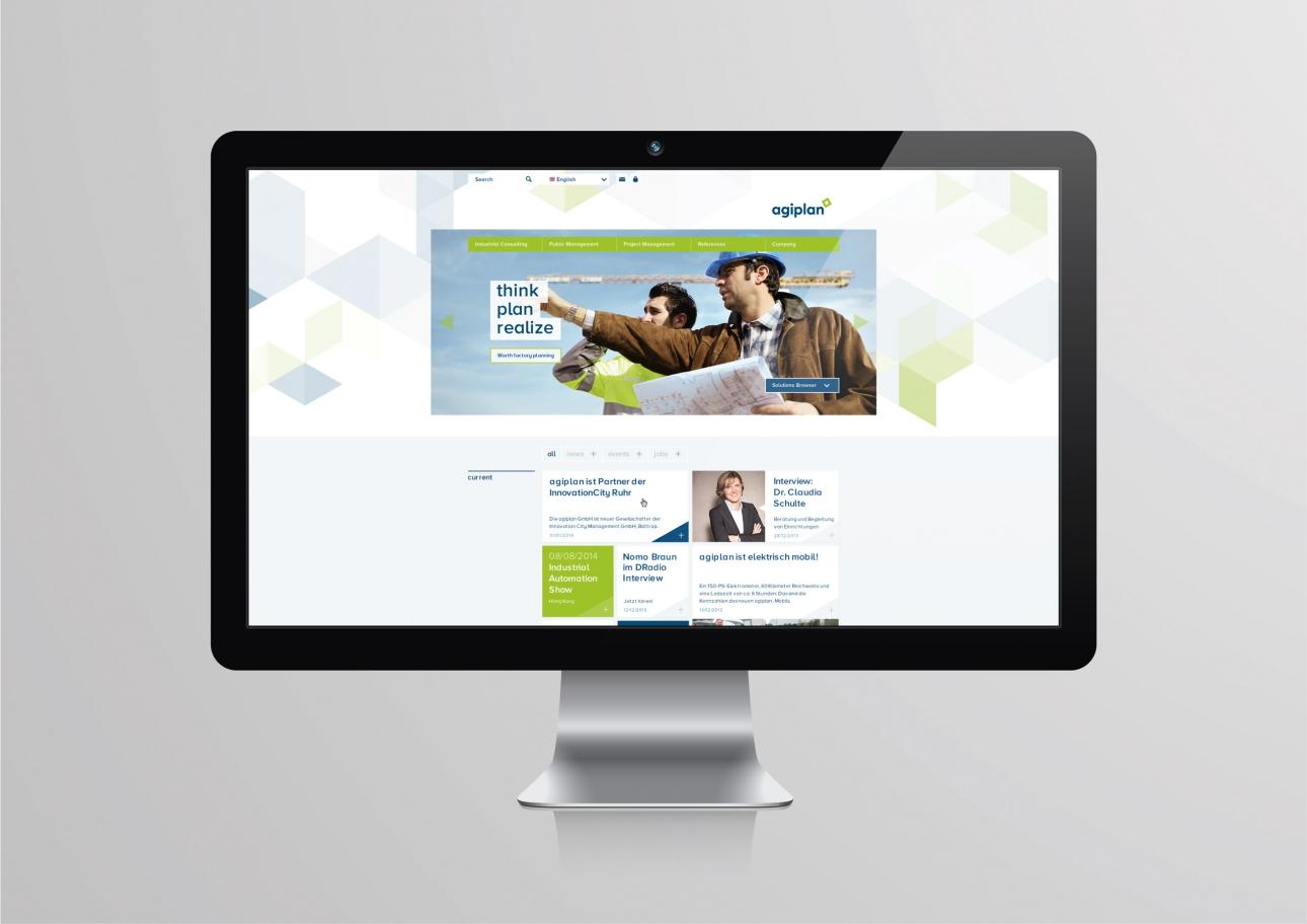 Webdesign für agiplan