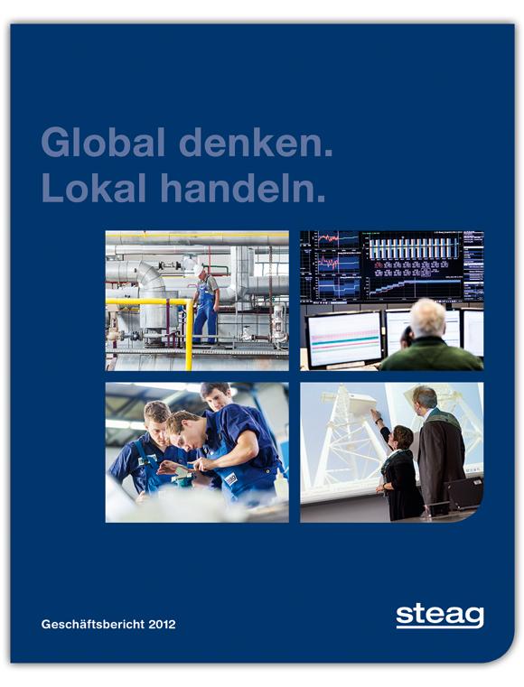 Geschäftsbericht Cover für steag