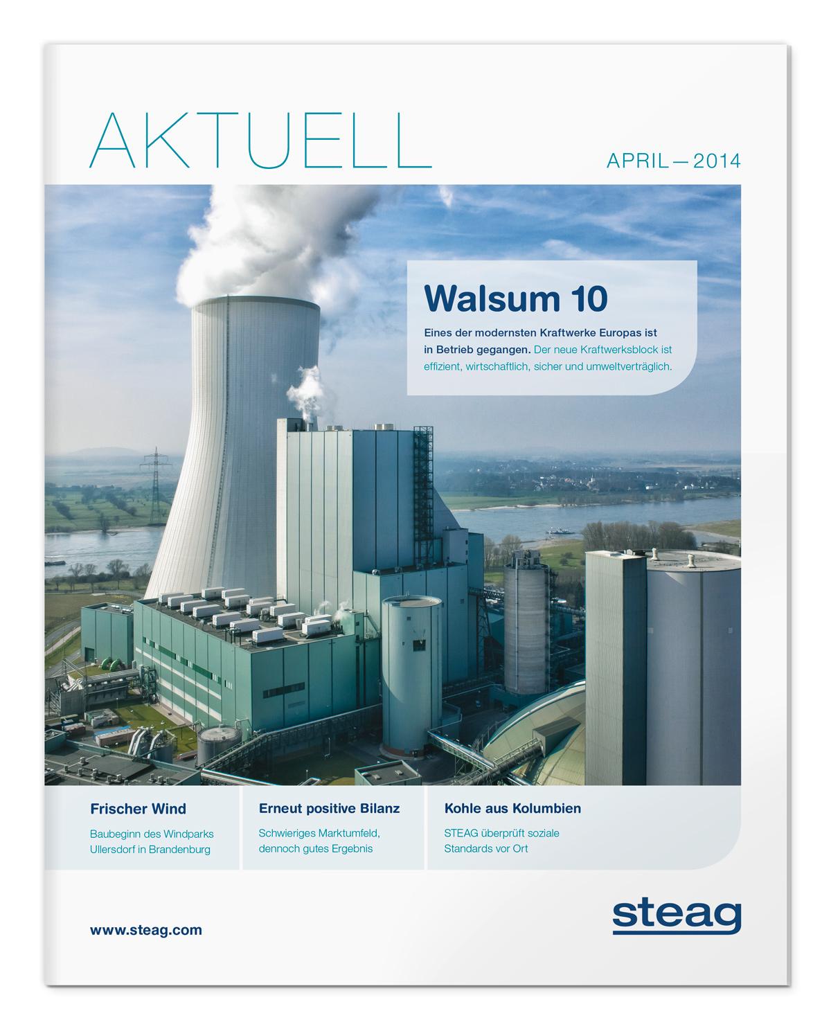 Magazin Cover für steag