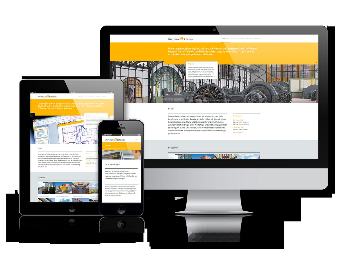 Responsive Webdesign für Wortmann Scherer