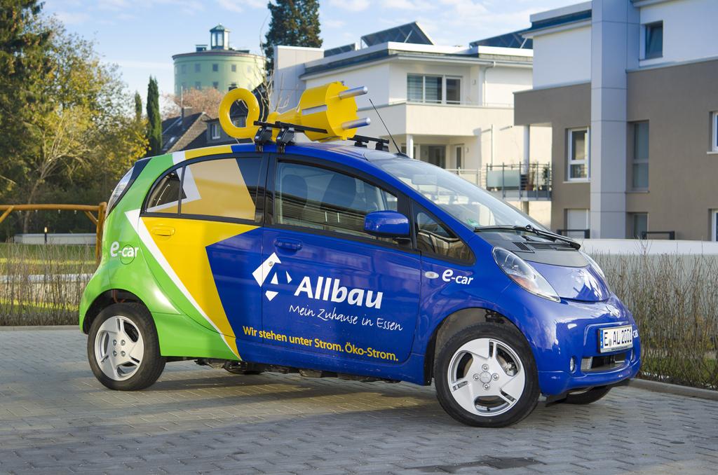 E-Auto Beschriftung für Allbau