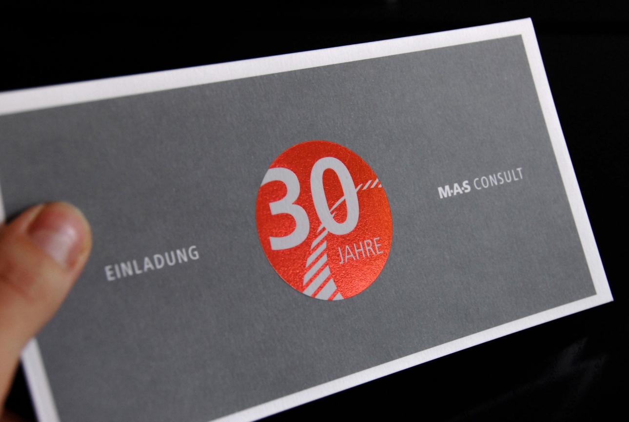 Einladungskarte Design für MAS