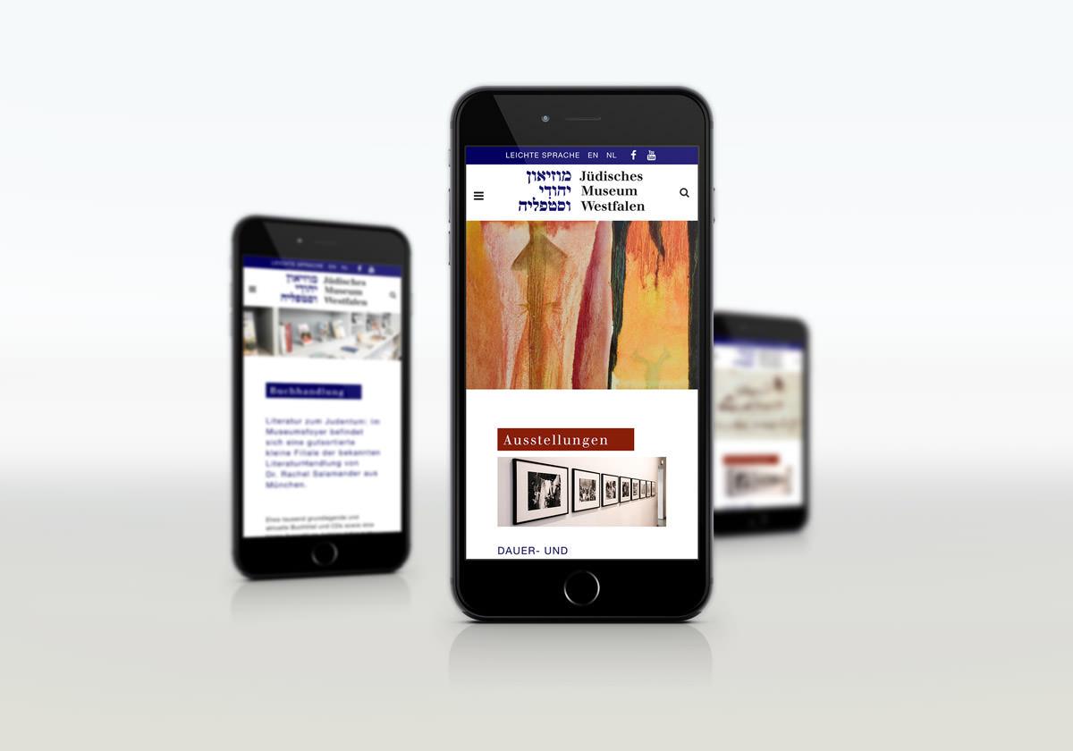 Responsive Webdesign für jüdisches Museum