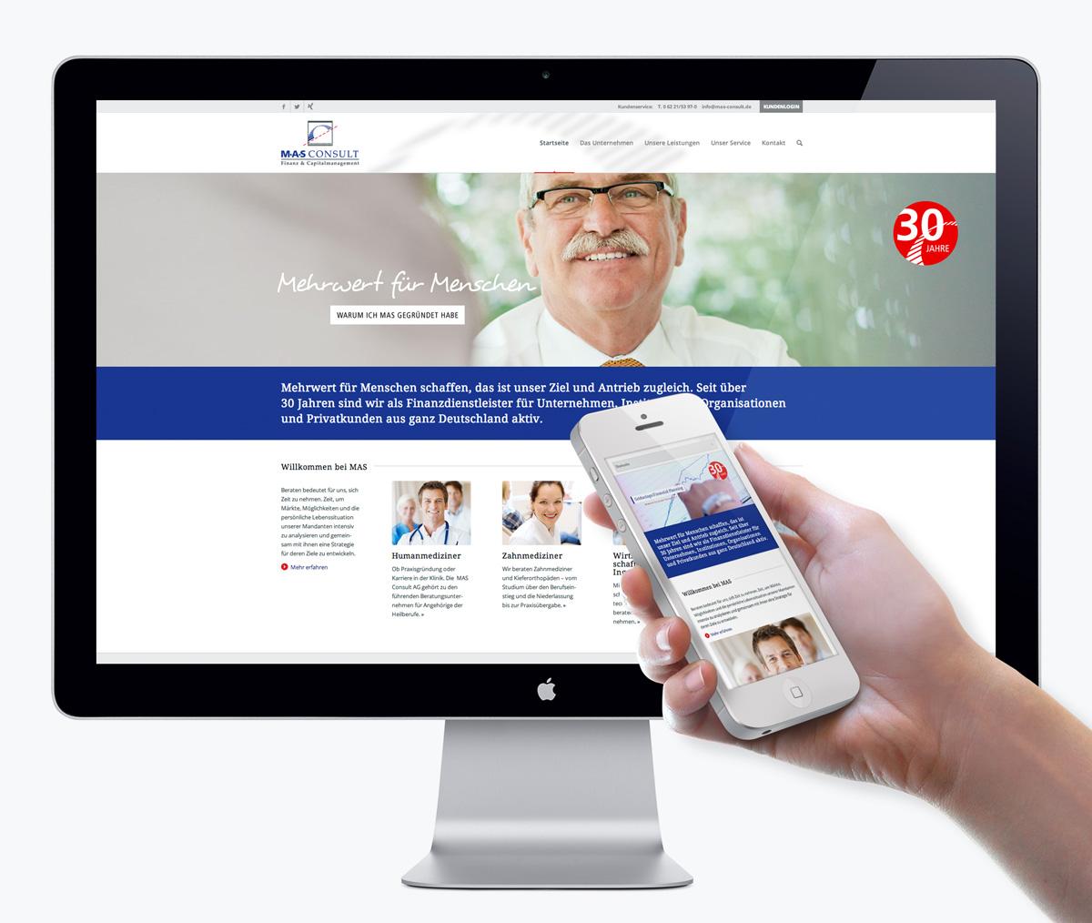 Webdesign für MAS