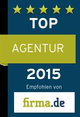 Siegel für Top Agentur 2015 31M-Agentur