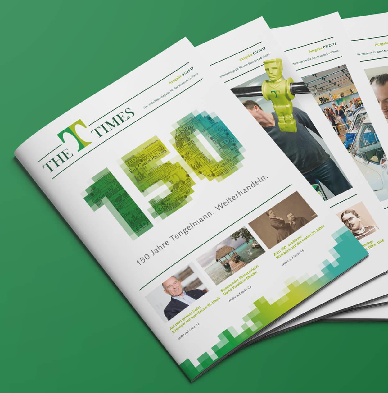 Corporate Publishing, Magazingestaltung für Mitarbeitermagazin von 31M Werbeagentur, Essen
