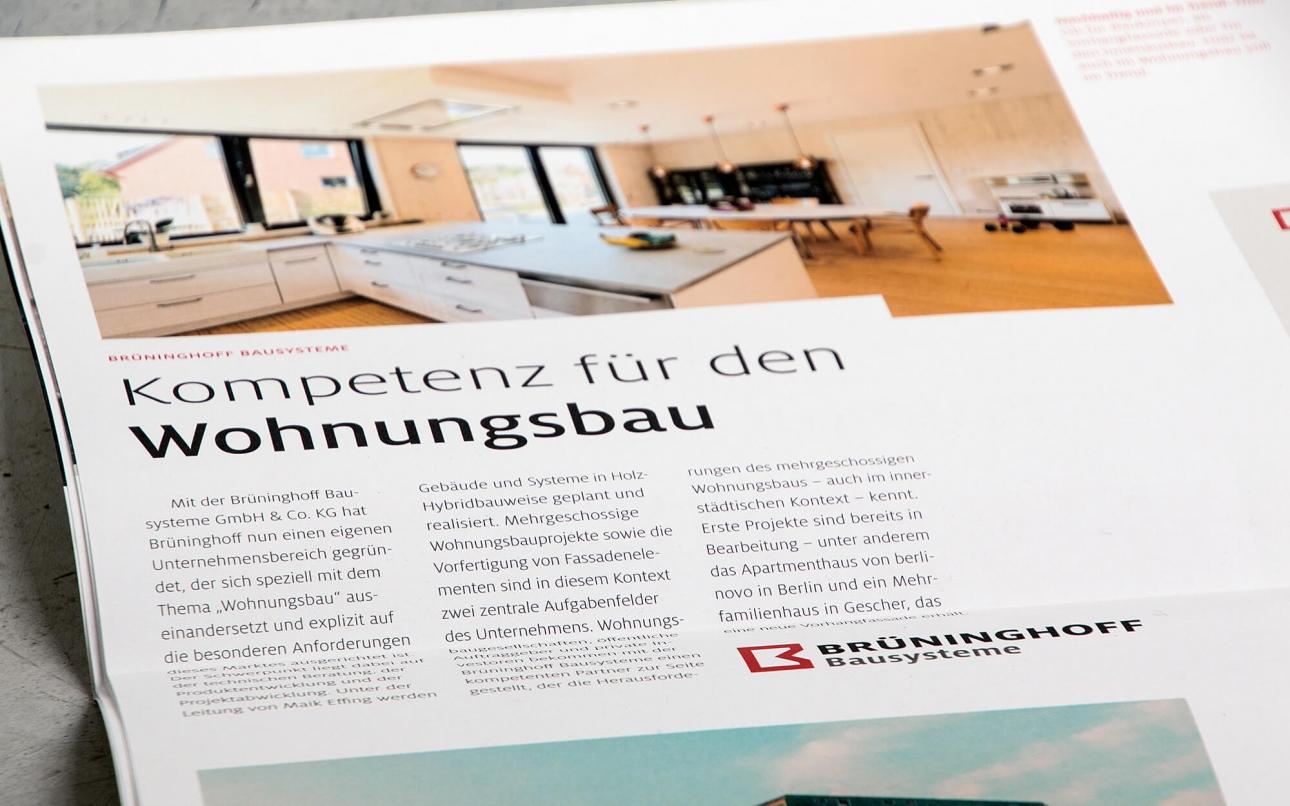 Freiraum Kundenmagazin und Mitarbeitermagazin Brüninghoff
