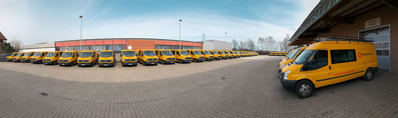 Fahrzeugbeschriftung im neuen Corporate Design von Brüninghoff