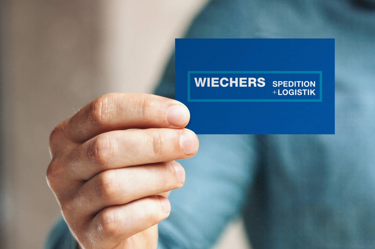 Visitenkarte im neuen Corporate Design von Wiechers, entwickelt von der Corporate Design Agentur 31M