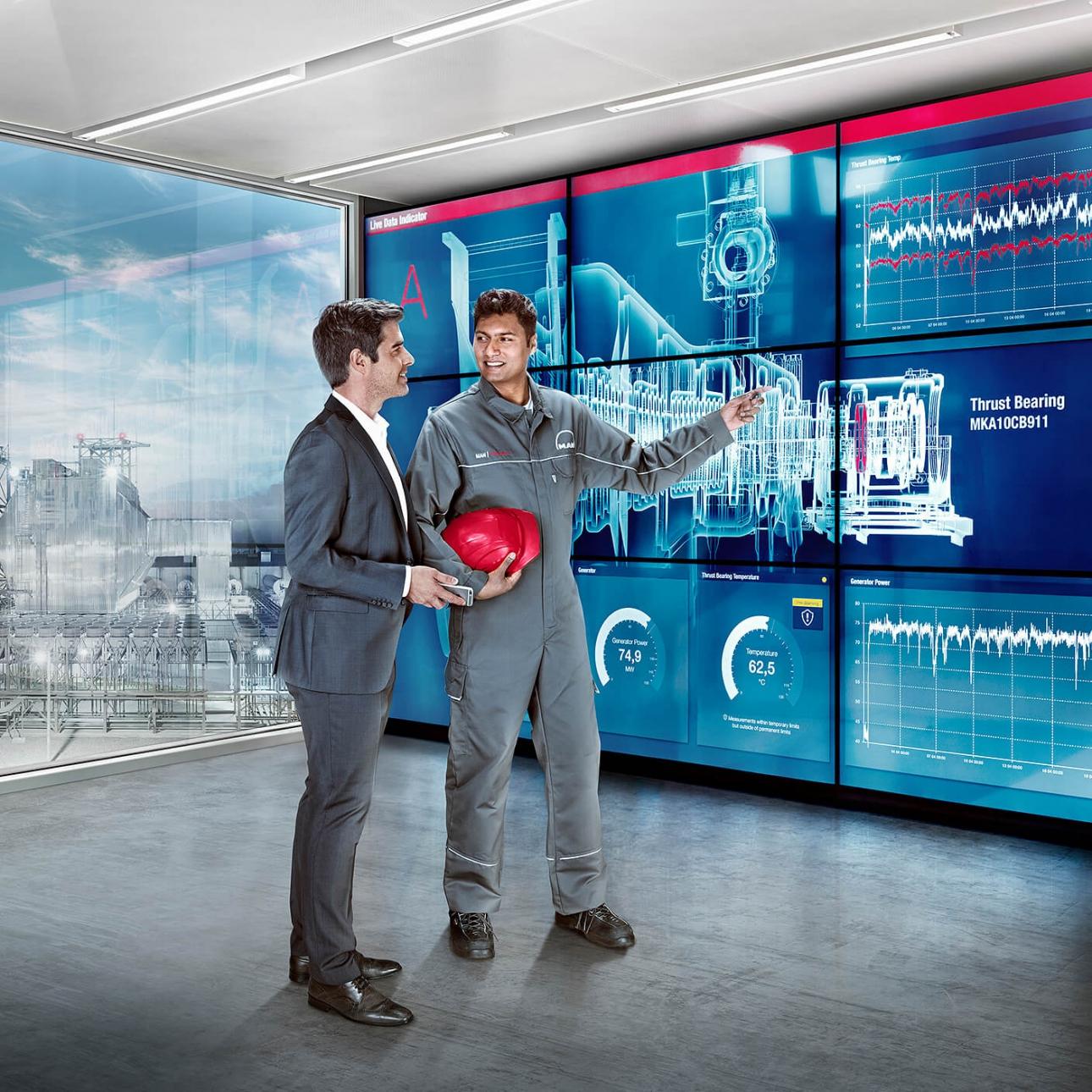 Key-Visual für die Imagekampagne für MAN PrimeServ, entwickelt und fotografiert von 31M und Jürgen Nobel