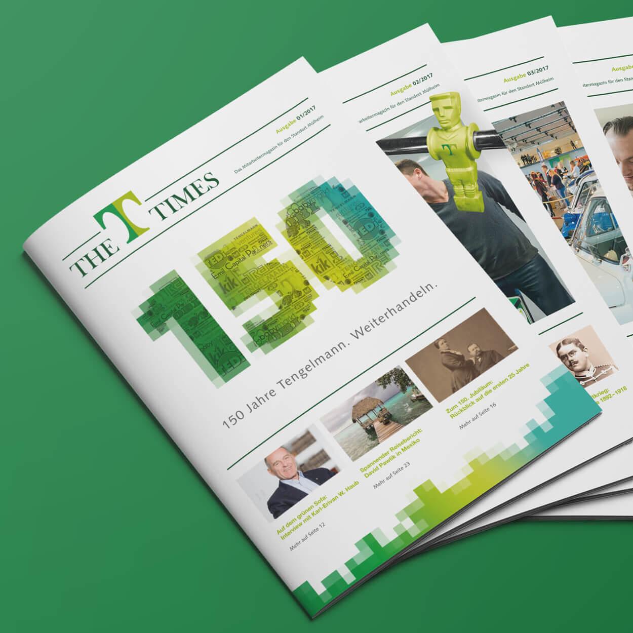 Corporate Publishing, Magazingestaltung für Mitarbeitermagazin von der 31M Corporate Publishing Agentur
