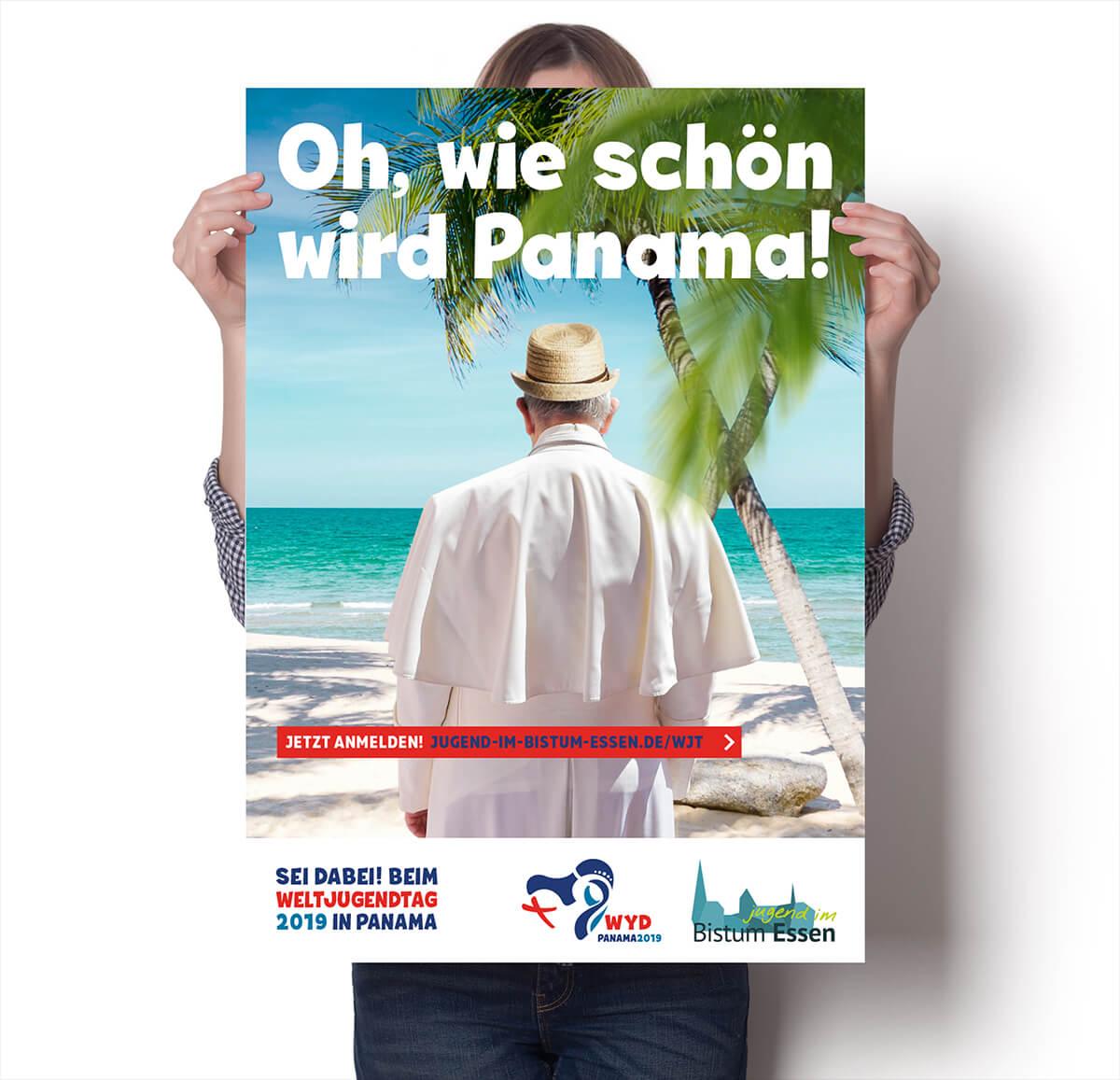 Plakat für das Bistum Essen zum Weltjugendtag