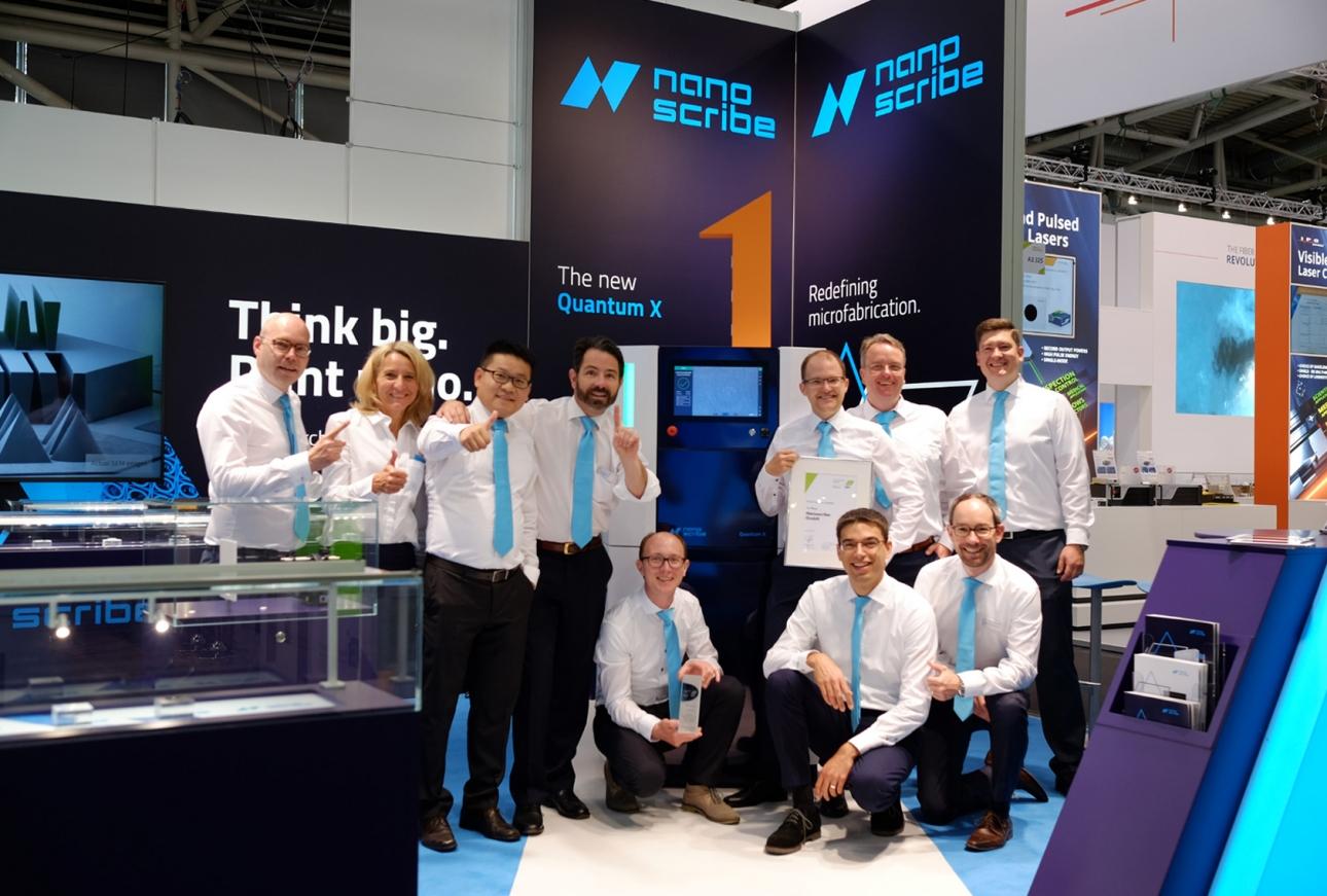 Erfolgreicher Messeauftritt: Corporate Design, Messestand & Messebau für Nanoscribe von 31M