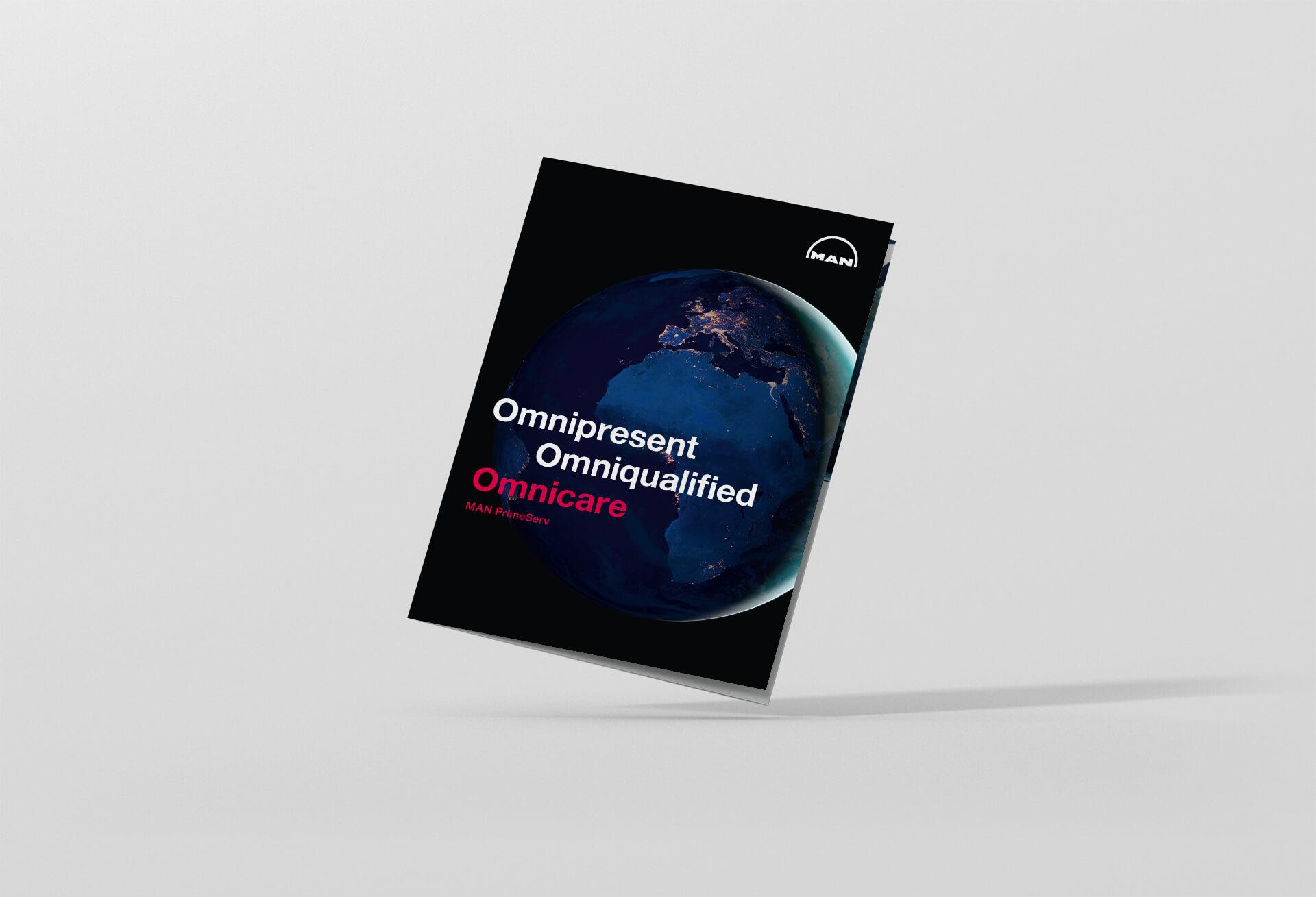 Titelseite Omnicare Broschüre Design