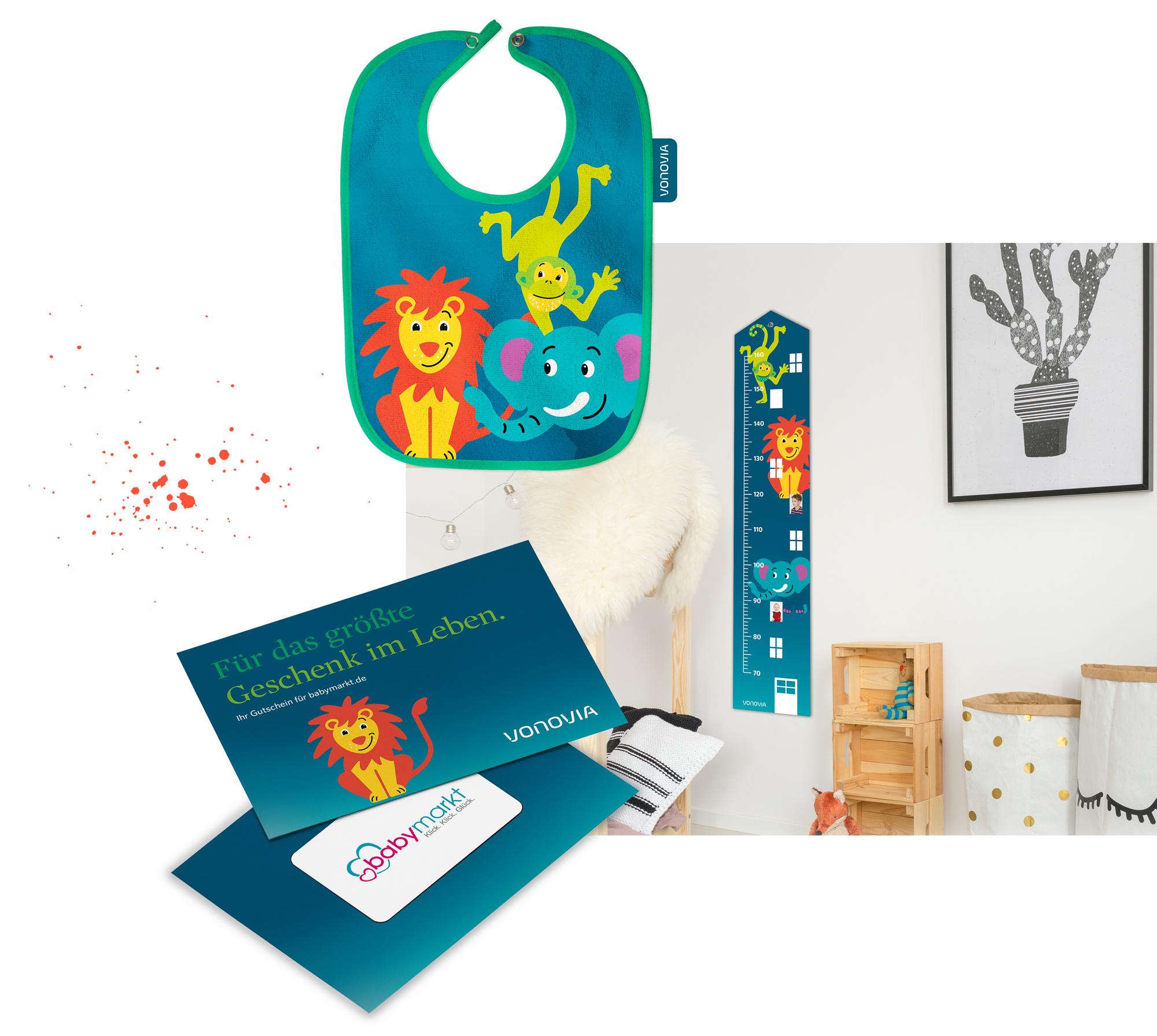 Inhalte der Babybox von Vonovia design von 31M