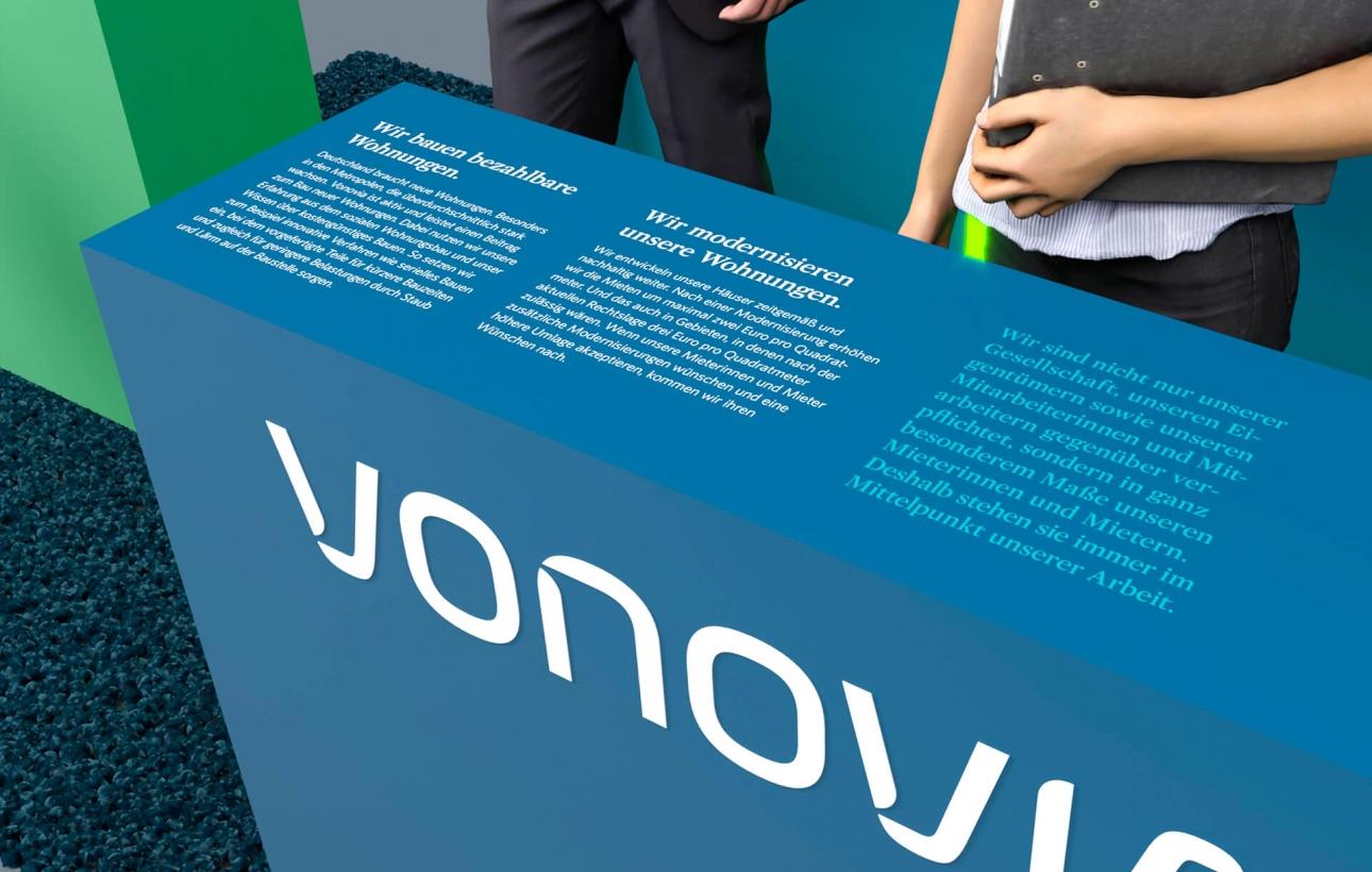 Konzeption, Design und Planung des Messestands für Vonovia