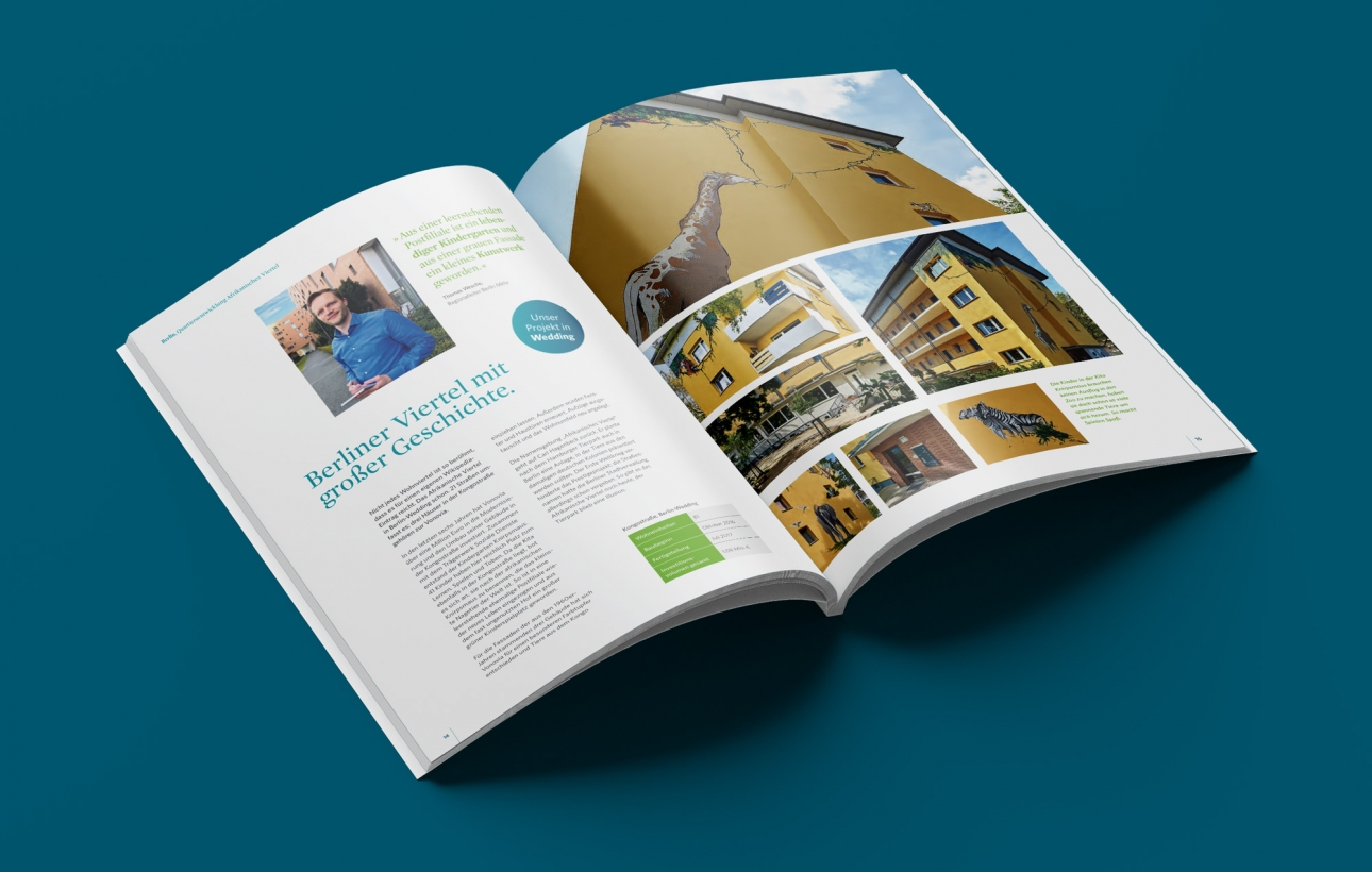 Printdesign: Die Vonovia Modernisierungsbroschüre wurde gestaltet von 31M