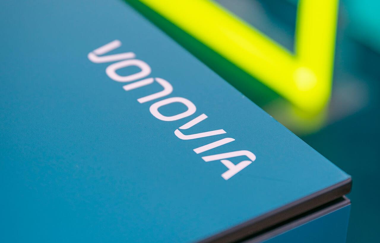 Nahansicht: Konzeption, Design und Messebau des Messestand für Vonovia von 31M Brand Space