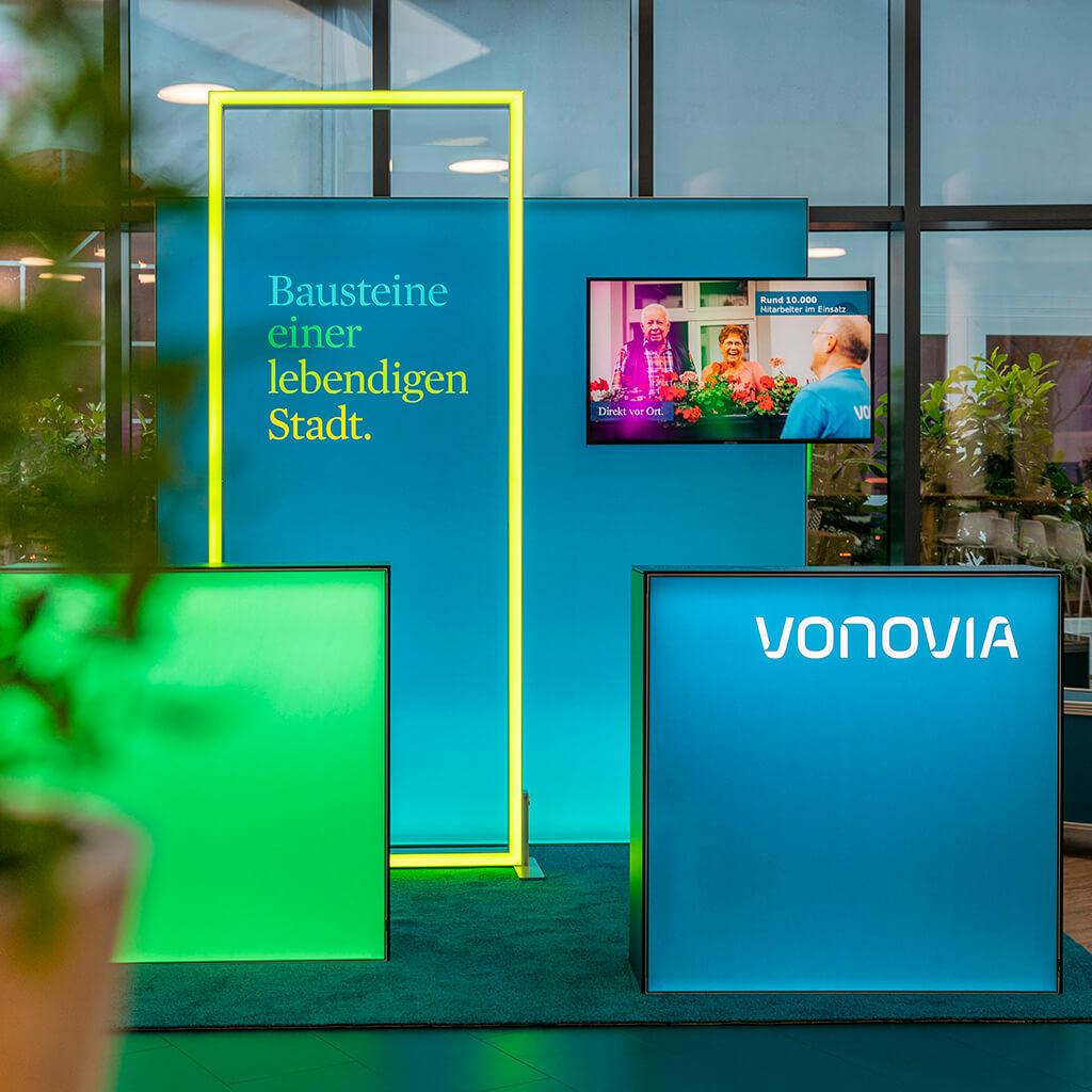 Konzeption, Design und Messebau des Messestand für Vonovia von 31M Brand Space