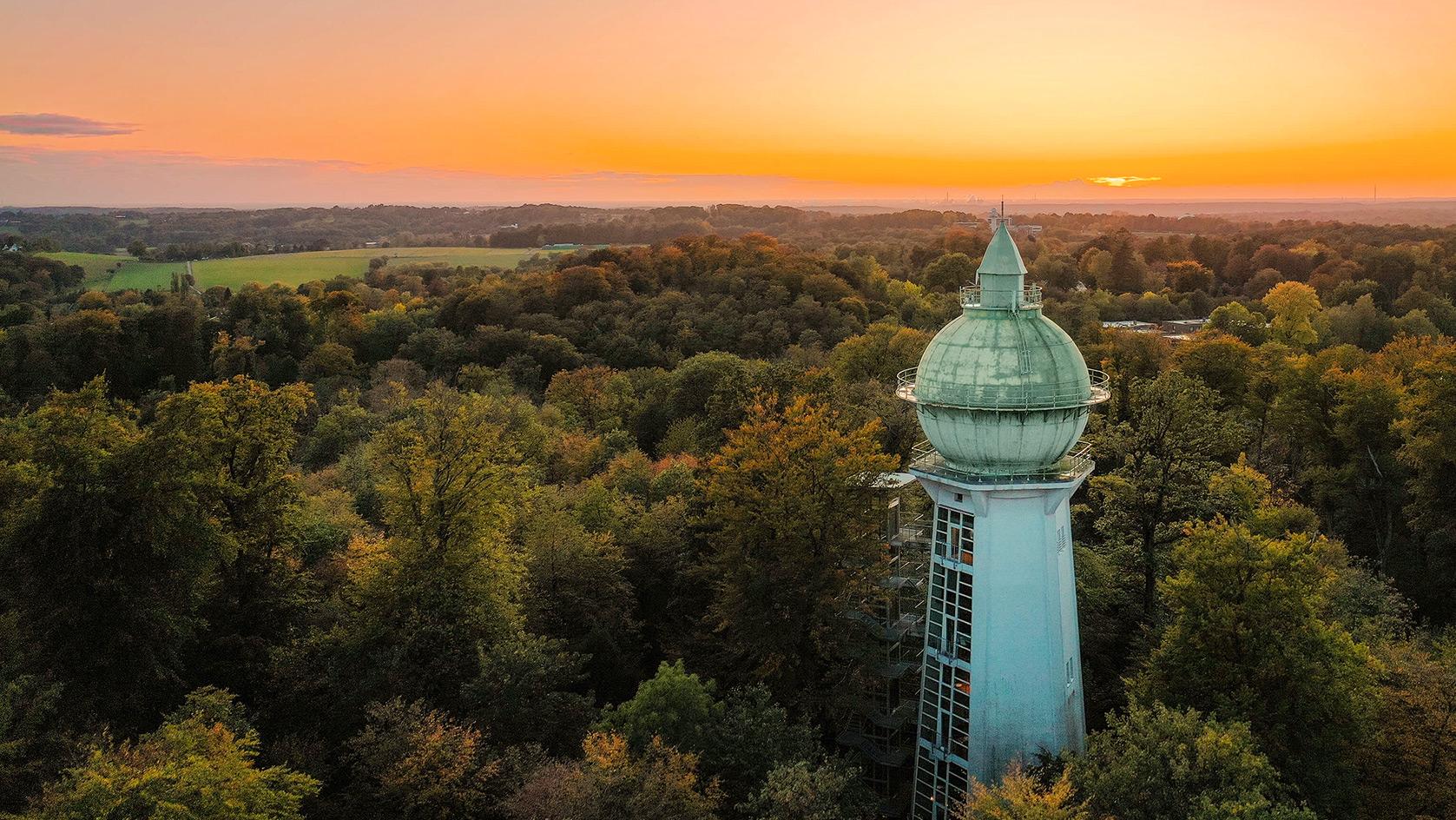 Der Wasserturm der 31M Design- und Werbeagentur in Essen, Ruhrgebiet