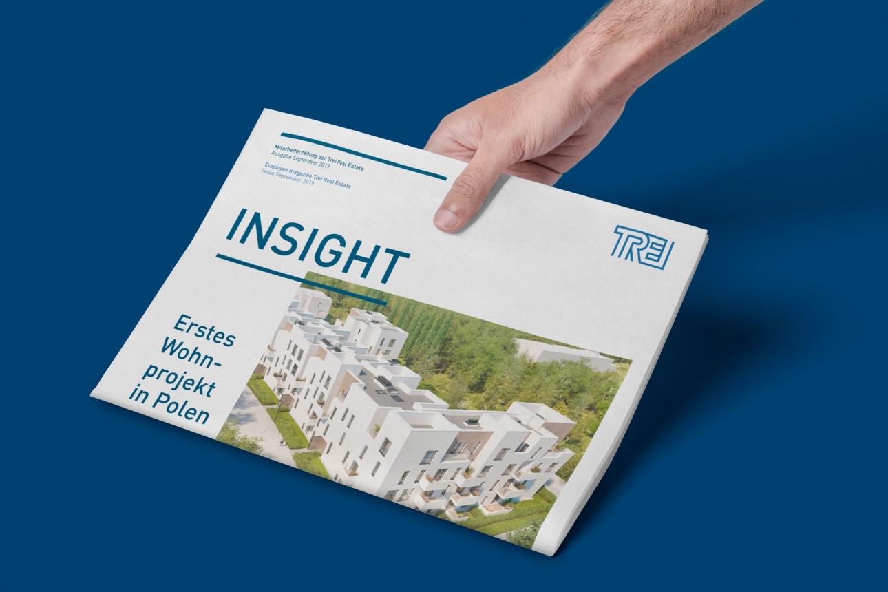 Corporate Publishing: Mitarbeitermagazin der TREI Real Estate, gestaltet von 31M