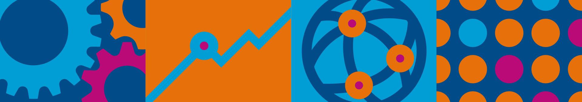 Corporate Design/Eventbranding: Designsystem für den NRW-Außenwirtschaftstag, gestaltet von der Corporate Design Agentur 31M