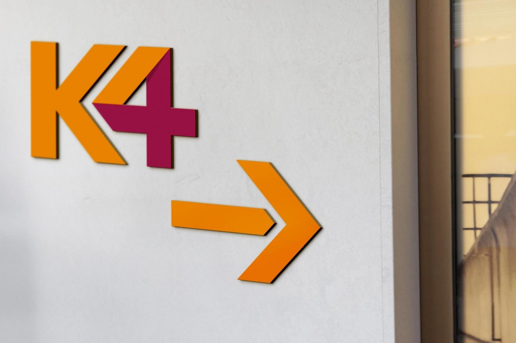 K4 Innenraumdesign, Wandbeschriftung, Corporate Design, Non-Profit