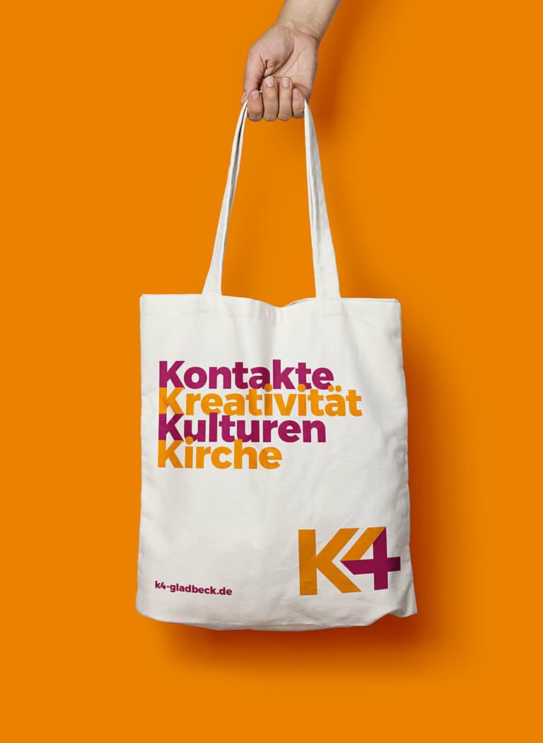 Soziale Marke und Corporate Design K4 Sozialpastorales Zentrum – Non-Profit