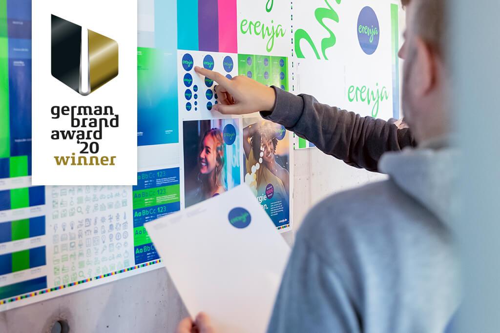 Markenentwicklung, Naming und Corporate Design für erenja von der Agentur 31M aus Essen, Ruhrgebiet ausgezeichnet mit dem German Brand Award