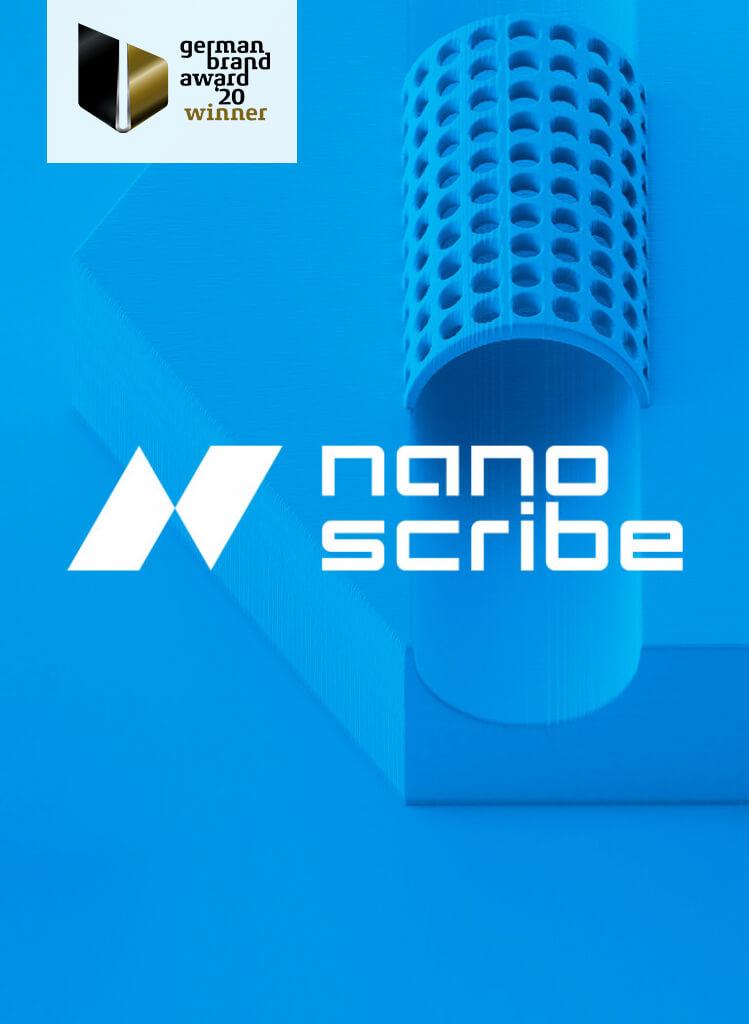 Corporate Design Relaunch für Nanoscribe – Ausgezeichnet mit dem German Brand Award 2020