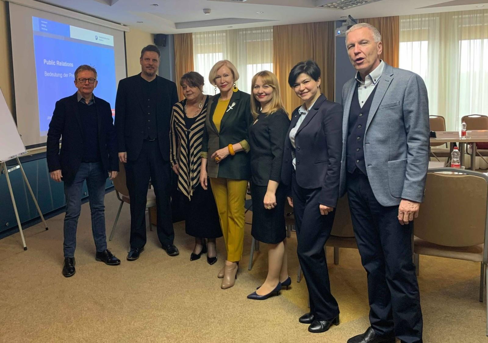 Einige Teilnehmer des Fundraising-Seminars in Minsk