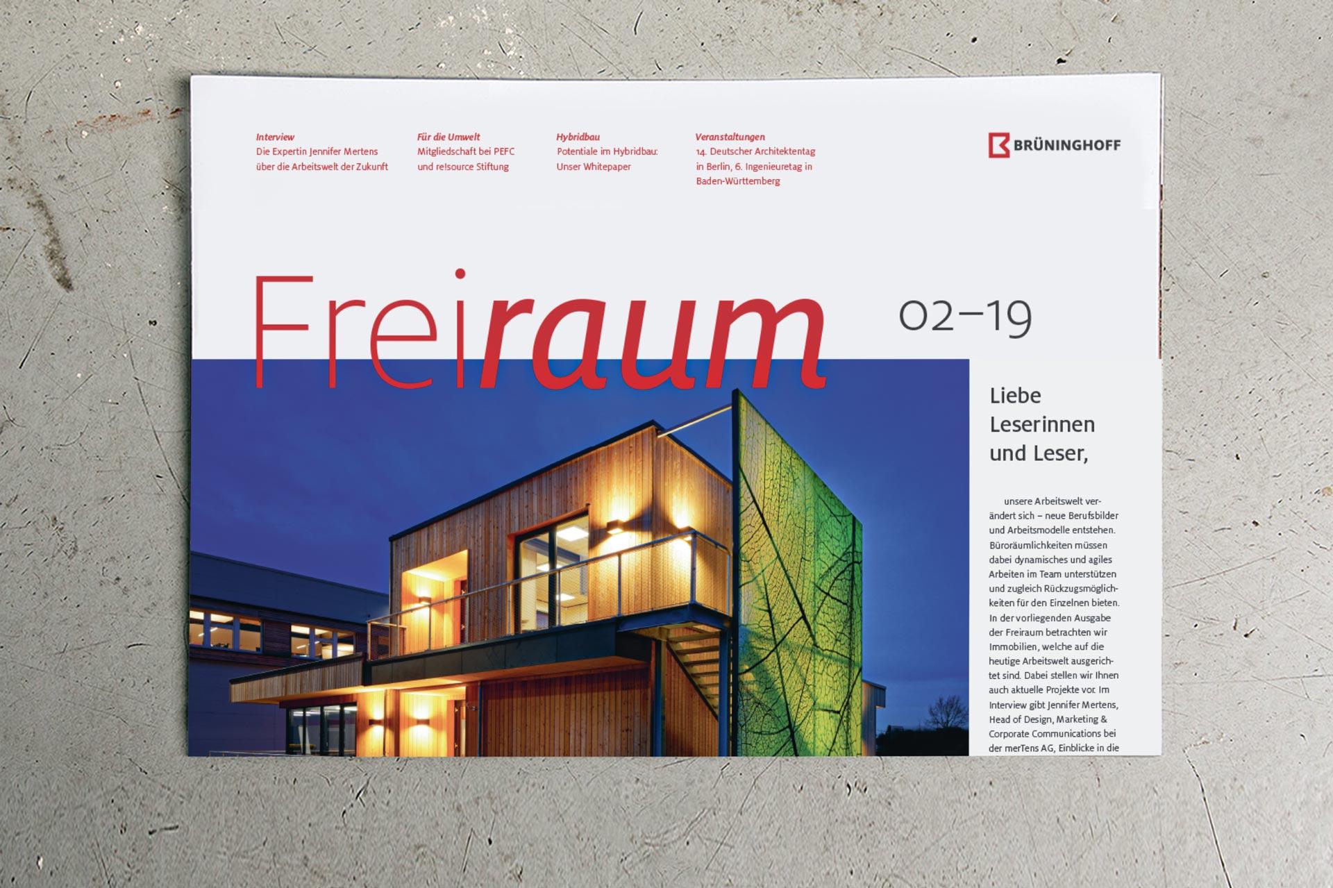 Corporate Publishing im Corporate Design: Kunden- und Mitarbeitermagazin von Brüninghoff
