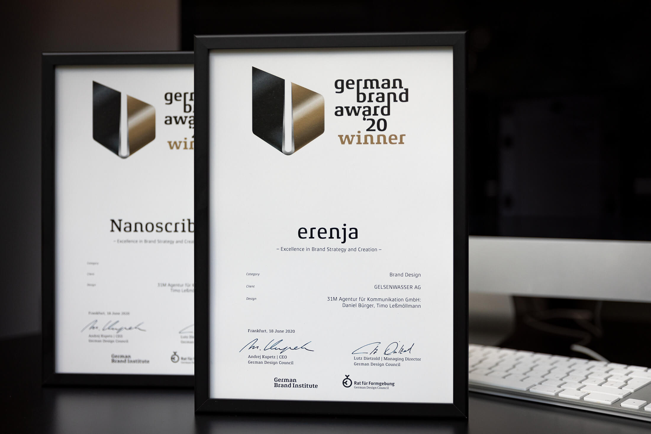 Urkunde German Brand Award