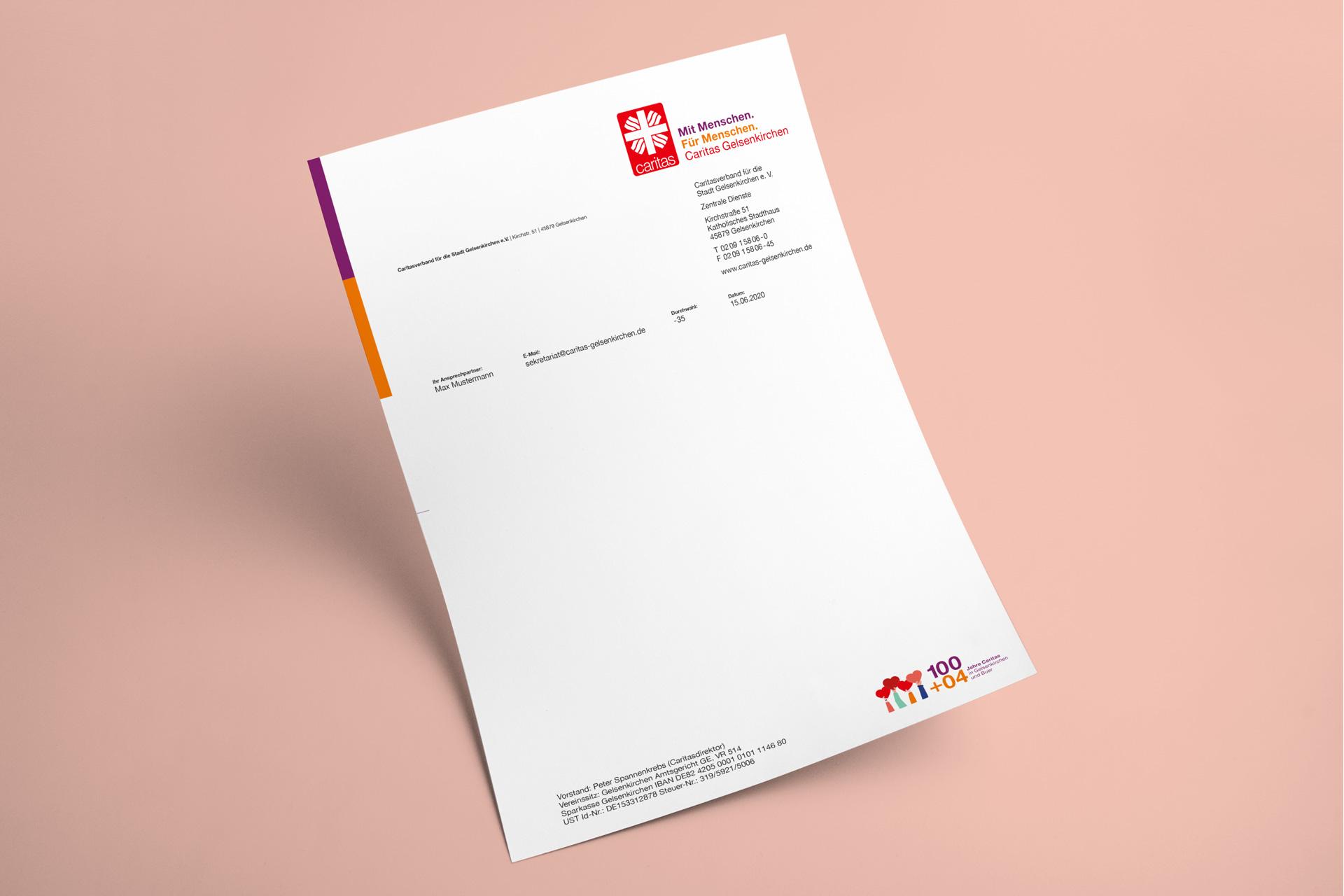 Briefbogen im neuen Design