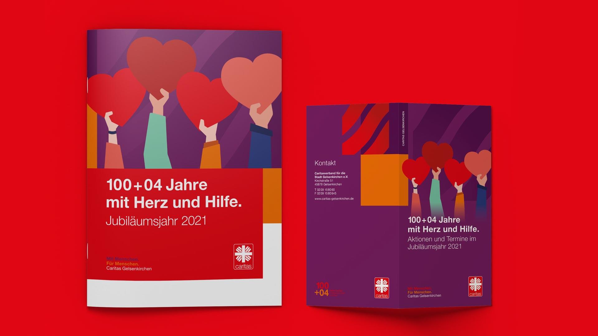 Titelseiten für Jubiläumspublikationen